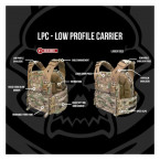 CHALECO LPC PORTA PLACAS WARRIOR ASSAULT LOW PROFILE CARRIER V1 MULTICAM L 08