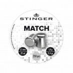 PERDIGON CABEZA PLANA 5.5MM STINGER MATCH 250U 01