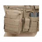 POUCH MULTIUSOS WARRIOR ASSAULT SMALL UTILITY CON MOLLE DELANTERO COYOTE TAN 04